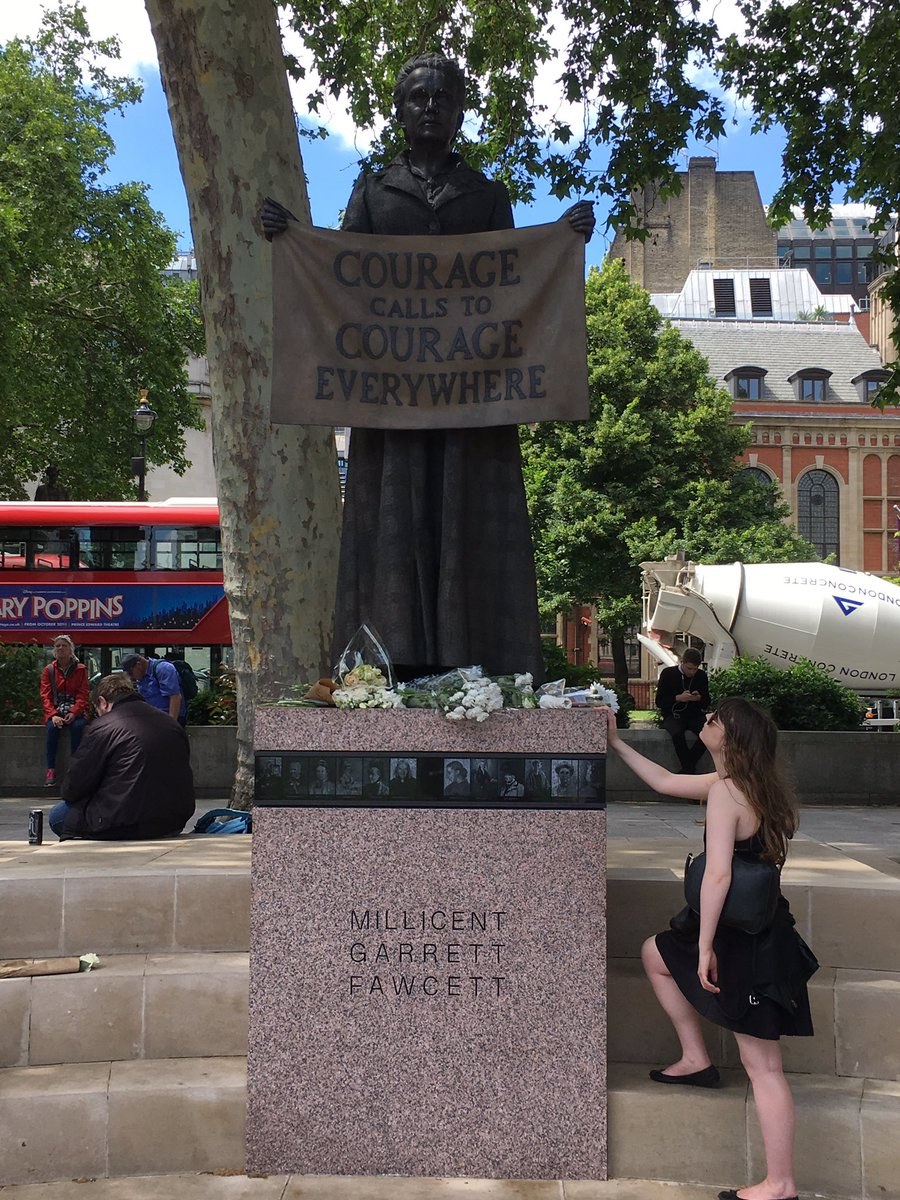 RT @sarah_stook: Courage calls to Courage Everywhere. Millicent Fawcett, such an honour to be at her statue. https://t.co/FKf5wwKLI6