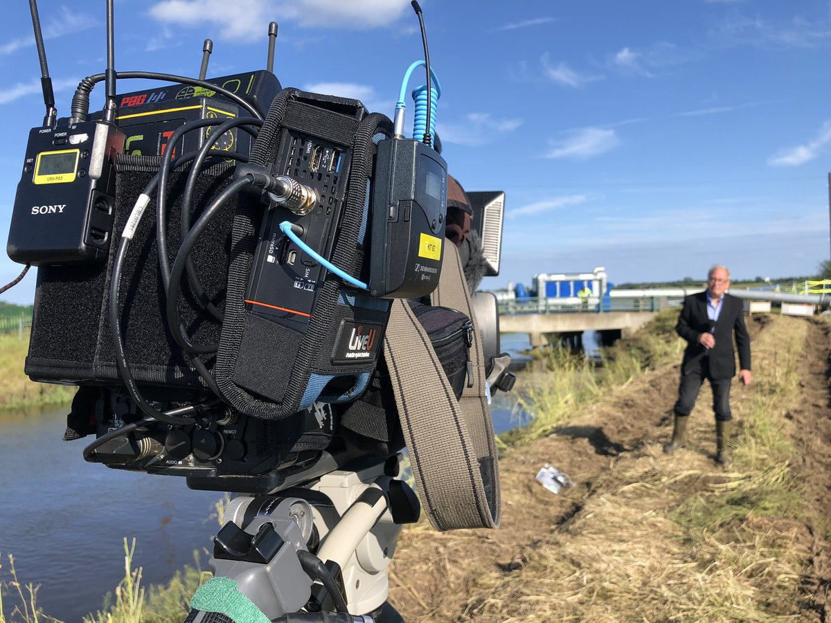 test Twitter Media - .@theresecoffey is visiting the high capacity pumps which are taking water from the river and pumping it to lower ditches, @chriskiddeyitv is live for @itvcalendar at 6 reporting on the floods @EnvAgency via @LiveU https://t.co/KoITycv4v6