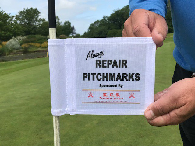 test Twitter Media - A massive thank you goes to member Ken Sievewright of   KCS Transport who has kindly sponsored the Indicator   Flags on both of our 18-Hole Courses.  The flags stress the importance of repairing your pitch marks in order to look after our greens ⛳️ . #pitchmarkrepairs #golfcourse https://t.co/NGfqn1UP4R