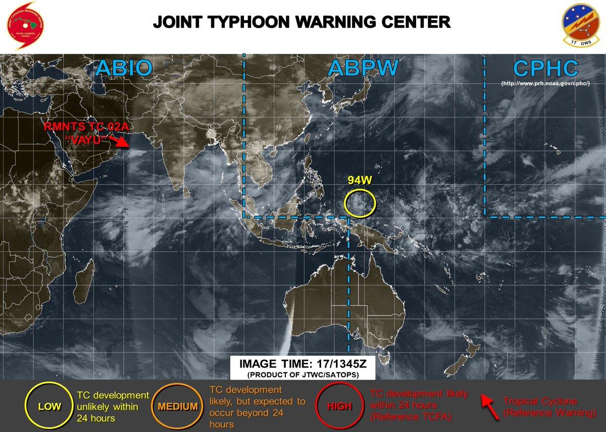 test ツイッターメディア - #tenki JTWC 台風発生確度 171345Z カロリン諸島付近に94W,台風発生確度LOW.熱帯擾乱がJTWCでも解析されたようね https://t.co/7yvkAvPd0n