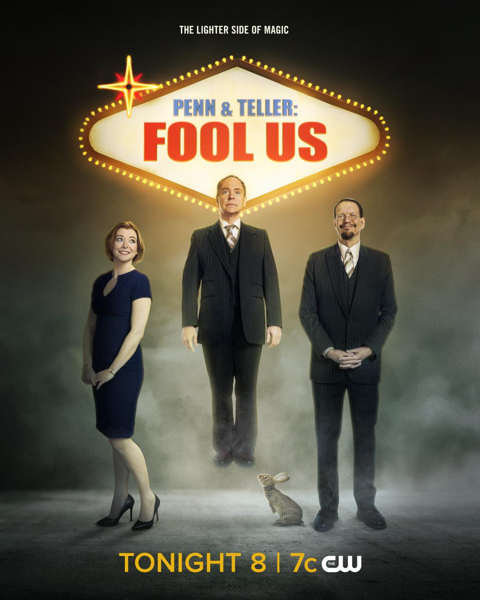 RT @CWPennandTeller: Fool us if you can! Penn & Teller: #FoolUs season premiere TONIGHT at 8/7c on The CW! https://t.co/tizflIb6SV