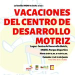 Asiste con tu bebé a las vacaciones recreativas del Centro de Desarrollo Motriz del IMDRI: https://t.co/gS9z5B6Nd5 https://t.co/dRxS0T1QEt