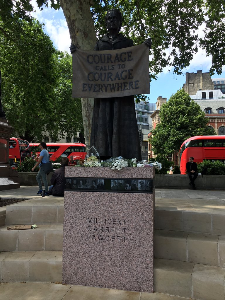 Saw my feminist foremothers Millicent Fawcett and Emmeline Pankhurst today. https://t.co/XMoTnxiuX3