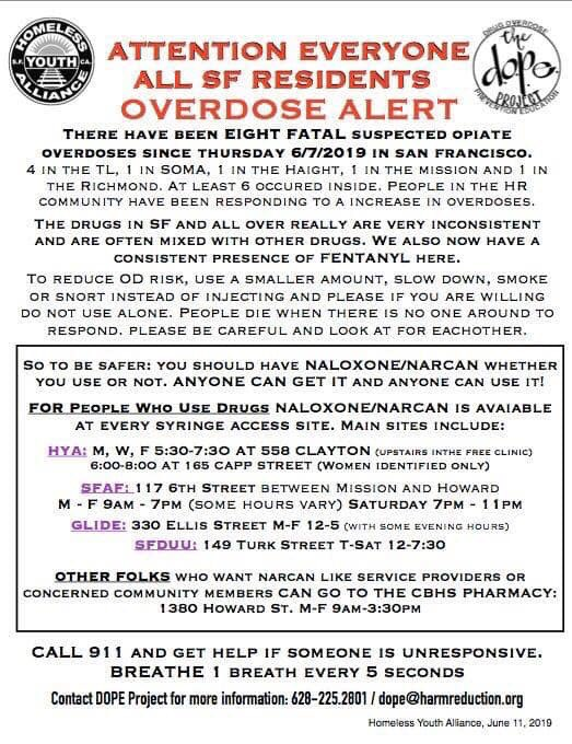 RT @drjudymelinek: San Francisco warning of Fentanyl contaminated opioid drugs. https://t.co/MI2hYMLCvb