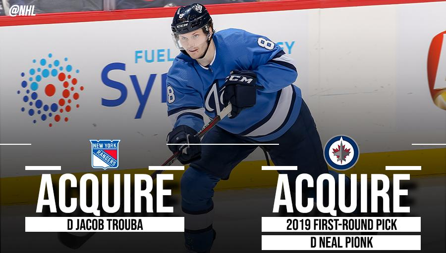 Trouba traded to Rangers by Jets for Pionk | NHL.com