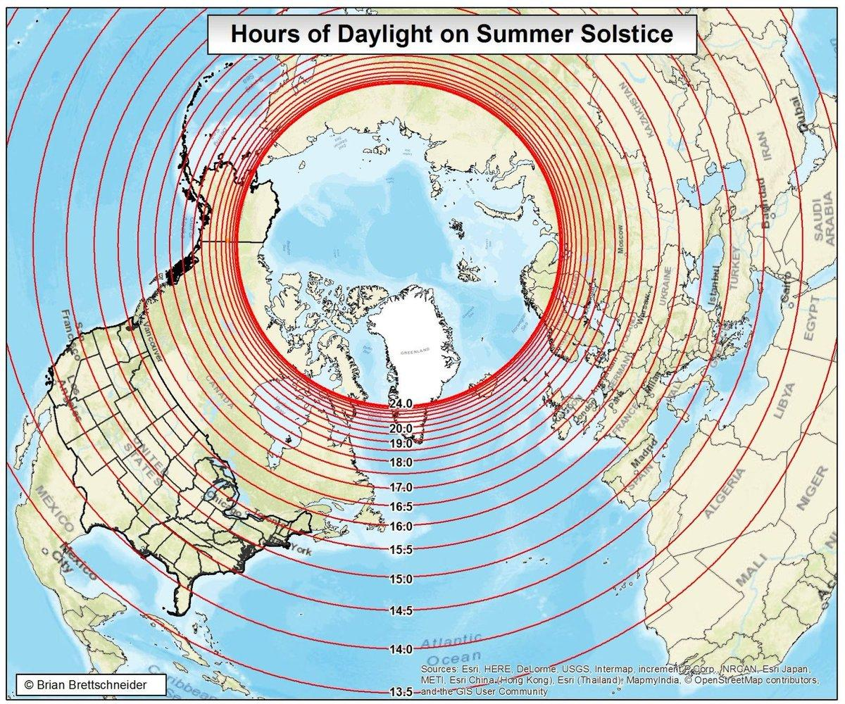 Hours of daylight on the summer solstice. 😎 https://t.co/8Gm1M1FkPA
