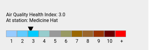 Mon 21:00: Air Quality Health Index: 3.0. History: https://t.co/tztmj3bTew https://t.co/ov7CRztkUQ