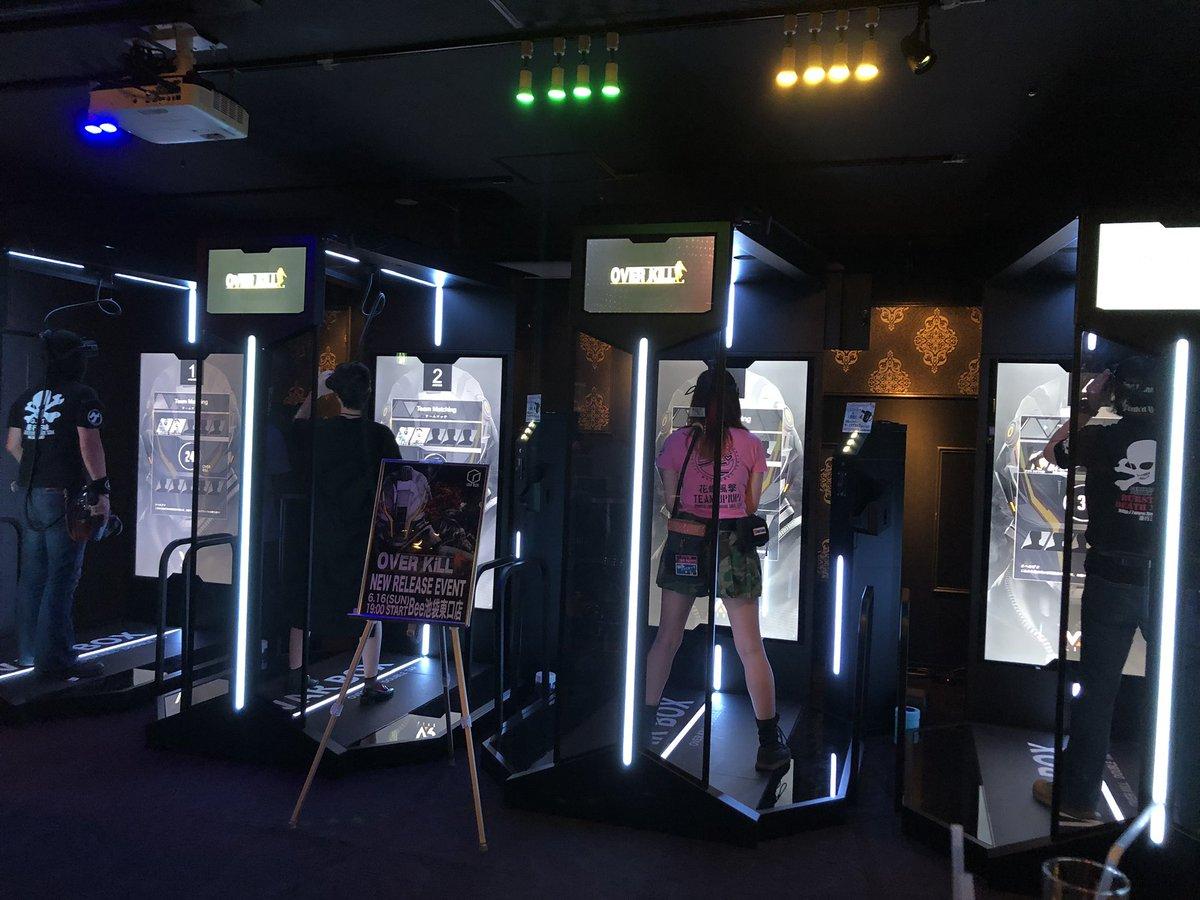 test ツイッターメディア - #VRシューティングゲーム の #OVERKiLL !実際に店内にいる人との2対2でのタッグ戦や、オンラインでのチーム戦もできちゃう、夢のようなゲームでした! 近未来っぽい世界観で、サバゲ感もすごい!一度やれば楽しさが分かると思います〜ぜひ遊んでみて下さいませ(o^^o) #Bee池袋東口店  #VARBOX https://t.co/2whrYg8i3z