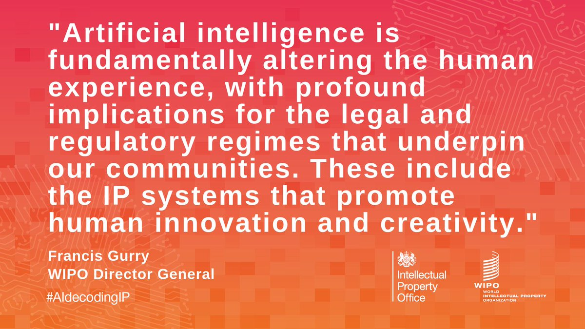 test Twitter Media - WIPO Director General Francis Gurry on the impact of #ArtificialIntelligence ⤵️ – #AIdecodingIP #AI https://t.co/Tu1QWi3Ae2