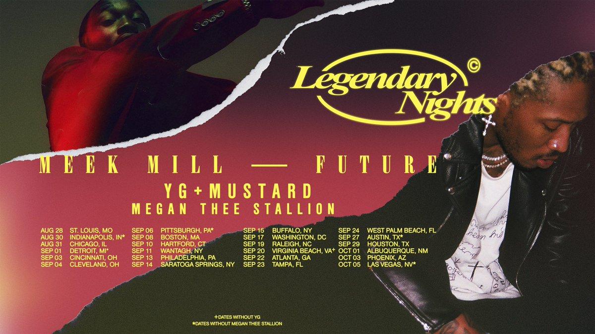 RT @1future: LEGENDARY NIGHTS. ON SALE FRIDAY @MeekMill @YG @mustard @theestallion https://t.co/YC6PCrbiTq