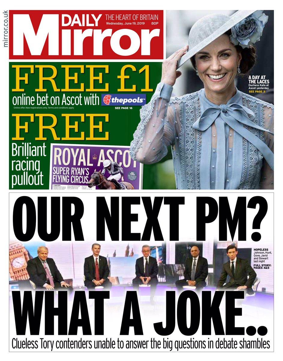 RT @BBCNews: Wednesday's Mirror: