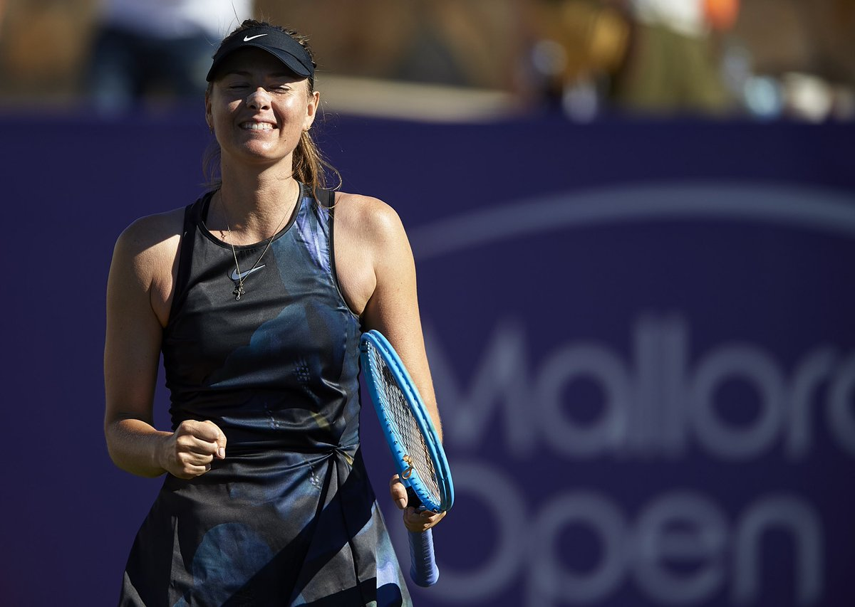 RT @head_tennis: It's so good to see @MariaSharapova back on court! First round ✅ @MallorcaOpen https://t.co/vQ3Ks0MgEM
