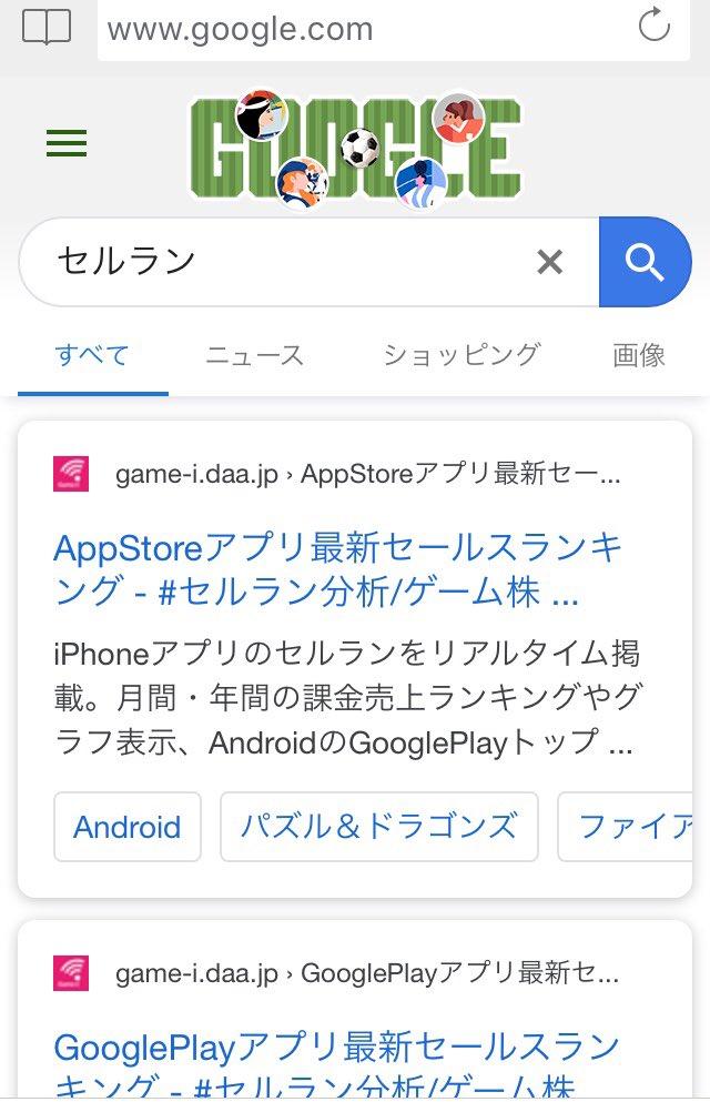 test ツイッターメディア - ついにキーワード『セルラン』で google検索1位奪取!٩( ᐛ )و  AppStoreアプリ最新セールスランキング - #セルラン分析/ゲーム株『Game-i』  https://t.co/DxqHYli6r4 https://t.co/stKMX7tyoz