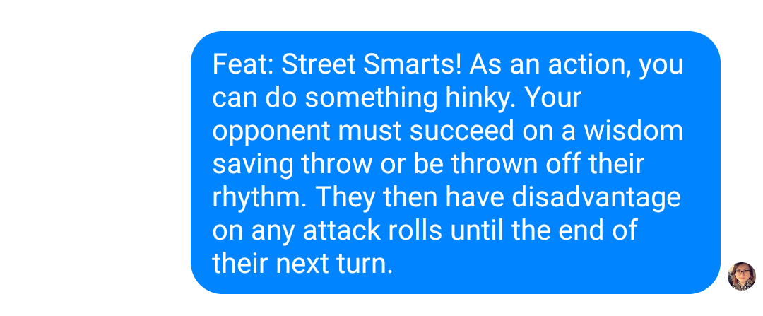 @mulaney did you ever imagine your joke would become a feat in a d&d based Harry Potter RPG? #dnd5e #streetsmarts https://t.co/rsbLCAGFzN