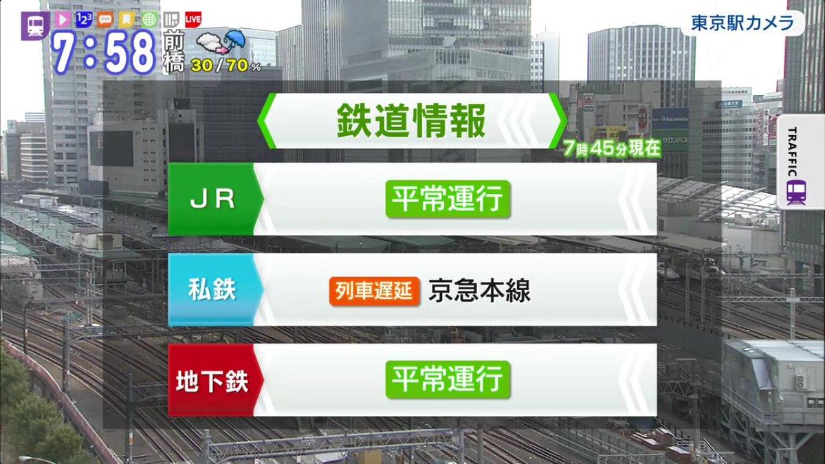 test ツイッターメディア - 【鉄道情報】7時45分現在 列車遅延 京急本線  #京浜急行 #エムキャス #遅延情報 #モニクロ https://t.co/lRy8lQZEaW