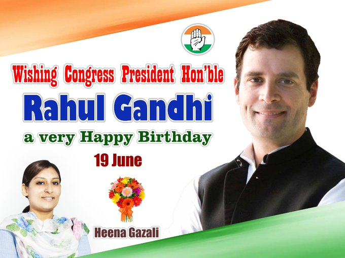 Happy Birthday to our great leader Hon\ble Rahul Gandhi Sir...!