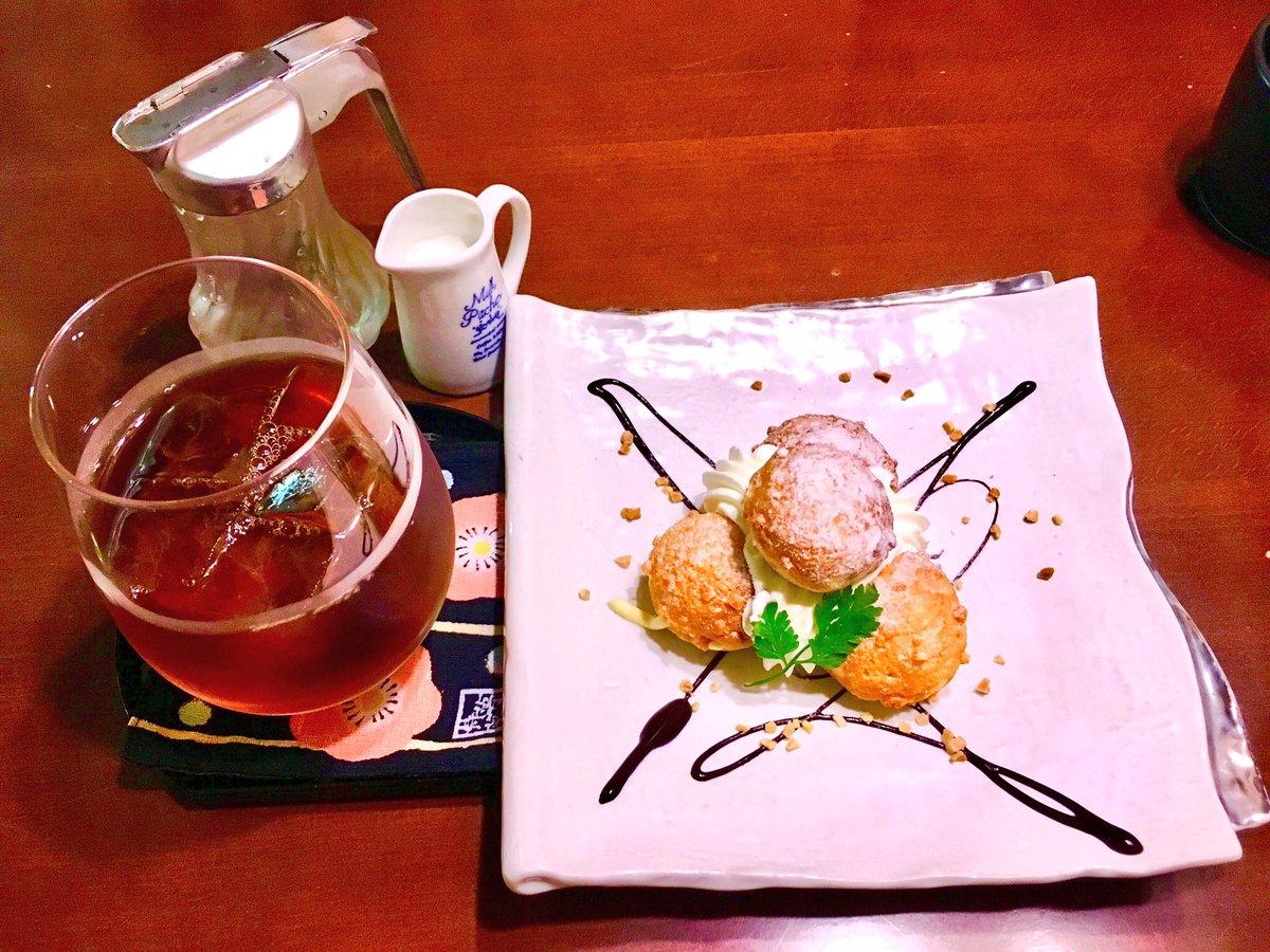test ツイッターメディア - 祇園にある「ひつじ」さんでおやつ!✨ 一口サイズの和三盆サクサクシュークリームなんやけど、めっちゃ美味しいから京都に来た際には是非行ってみて下さい🌸🍴 https://t.co/nck73cVEUt