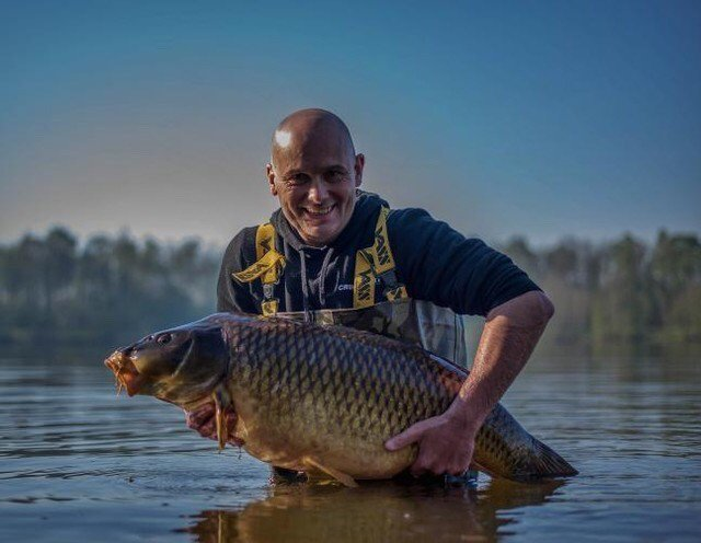 A 19.8kg Common for Ronnie from a public <b>Water</b> in the Netherlands. #carpfishing #vasswaders #