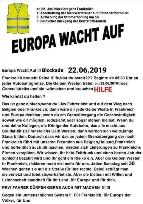 #Gelbwesten  #Gelbewesten 22.06.2019 Aktion in Frankreich https://t.co/fVJeSpm2Pb