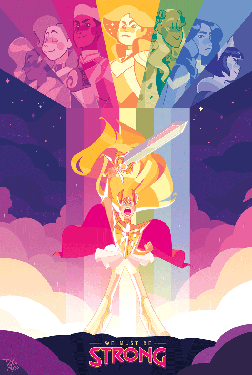 RT @dokirosi: and we must be brave #SheRa #PrideMonth https://t.co/5BhKRvD7UH