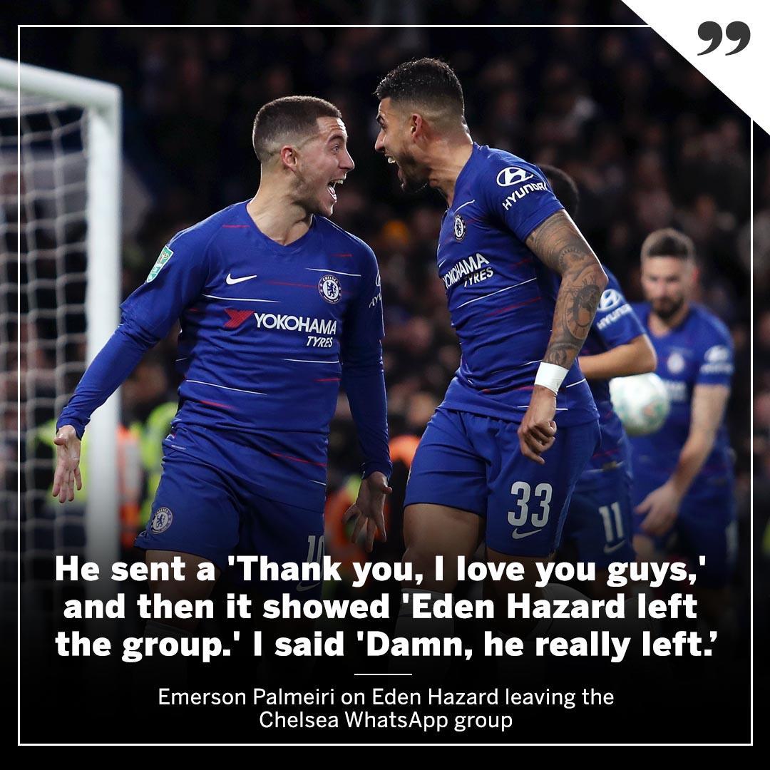 RT @ESPNFC: Eden Hazard has left the group. https://t.co/gDIQGnOnRp