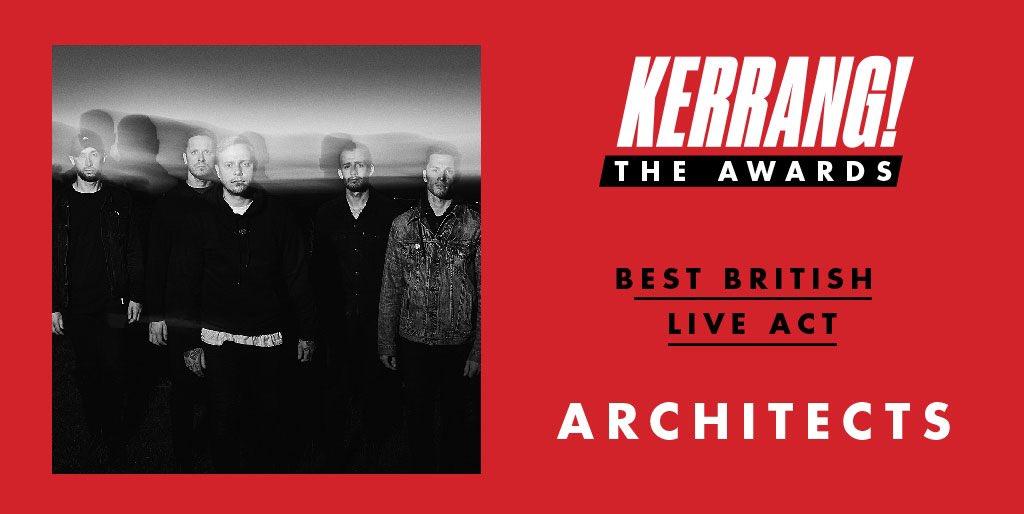 RT @KerrangMagazine: Congratulations to @Architectsuk for winning Best British Live Act! #KerrangAwards https://t.co/Mup4YFjfWj