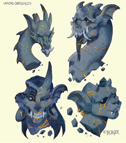 test Twitter Media - RT @eyecager: Gargoyles that were once broken revived with kintsugi but now forever undead. https://t.co/Vh9RQf5zOT