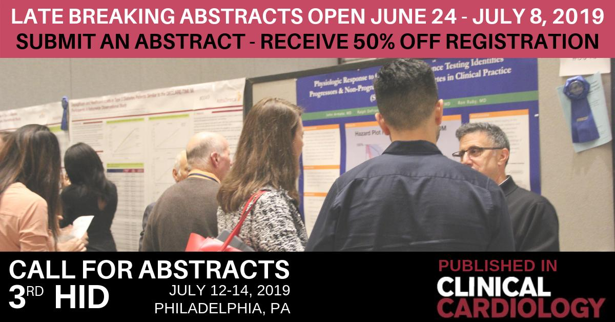 test Twitter Media - Late Abstract Submission for 3rd HiD open June 24 - July 8. Abstracts published in Clinical Cardiology @WileyCardiology - all submitters receive 50% off registration! https://t.co/xrf99DW1CX #clinicalresearch #medicine #research #hcsm #meded #healthcare #health #heart #diabetes https://t.co/RA4XKckrfB