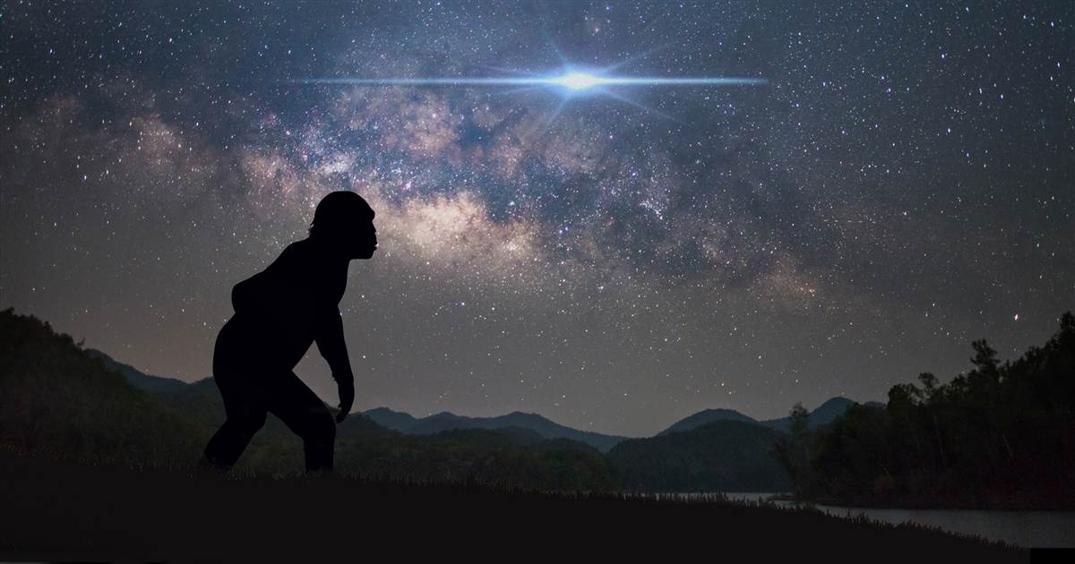 Ancient star explosions could have led early humans to walk upright