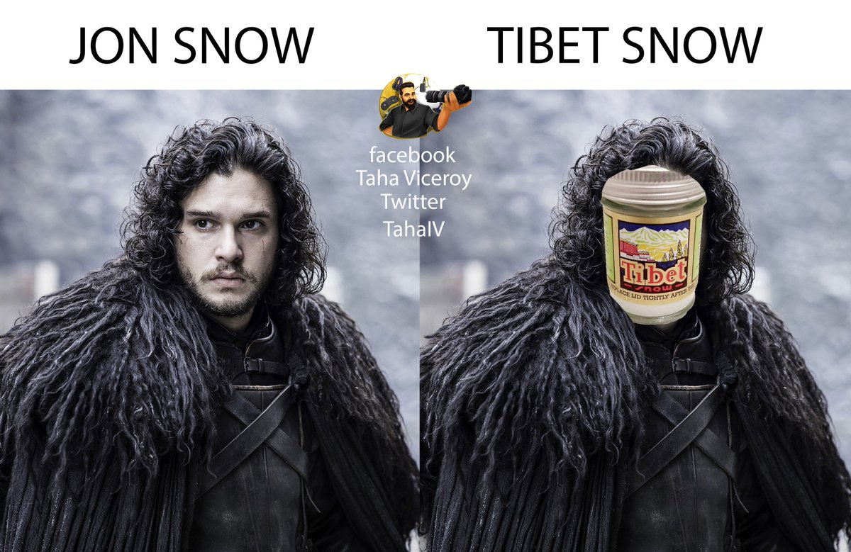 you know nothing about Tibet snow   #GoTFinale #JonSnow https://t.co/d6iHEHD5gh