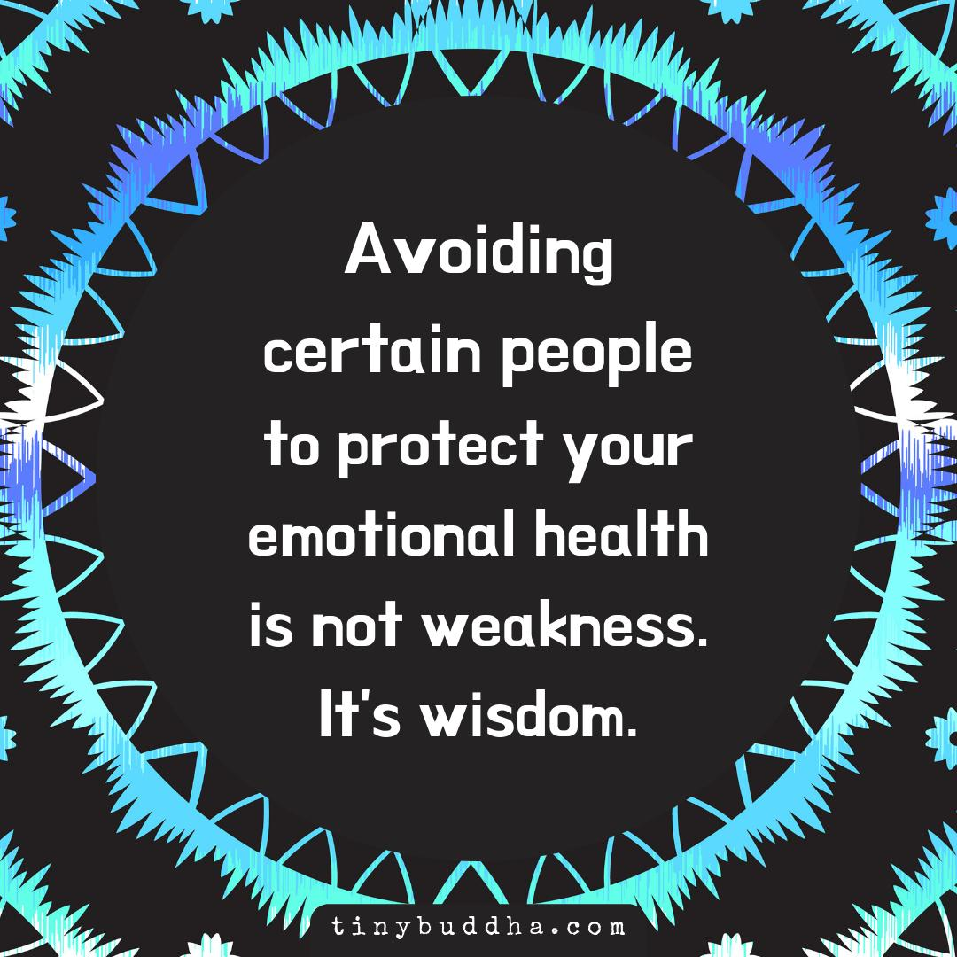 Avoiding certain people to protect your emotional health is not weakness. It's wisdom. https://t.co/OaxCxjxiQR