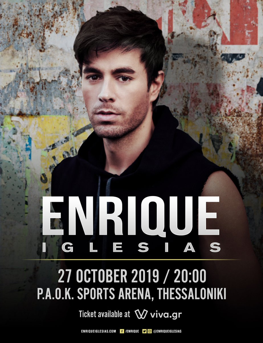 #GREECE! Tickets for the show in Thessaloniki are now available at https://t.co/vpvwnOUCET , see you very soon! https://t.co/5NxhUnsrPB