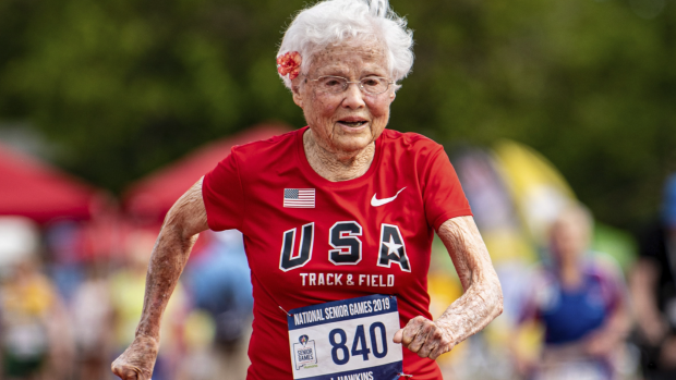 Julia 'Hurricane' Hawkins, 103, sets new record