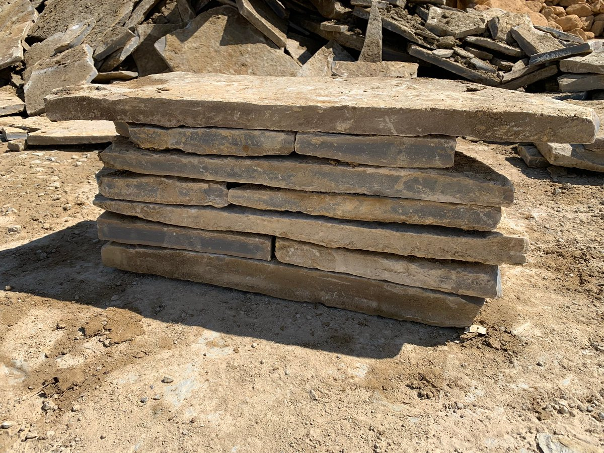 Blue Lias dry stone walling, Heights ranging from 30mm upto 70mm Please call the office for more info