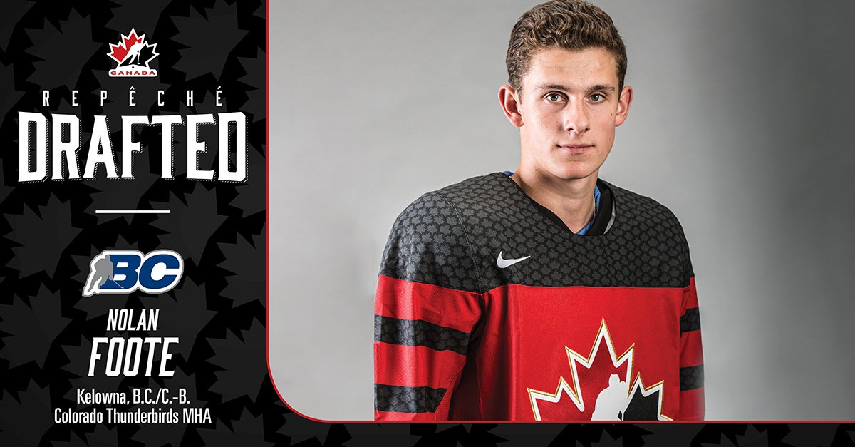 test Twitter Media - Nolan Foote has been selected 27th overall by the @TBLightning in the 2019 #NHLDraft Congratulations Nolan !  #HockeyCanada @BCHockey_Source https://t.co/NUze7acroT