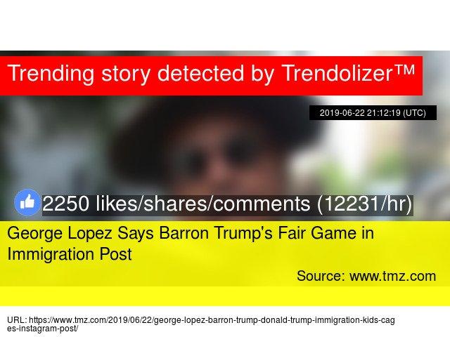 test Twitter Media - #GeorgeLopezSays#BarronTrump's Fair Game in Immigration Post https://t.co/eCScAyjXqV https://t.co/2f2ulMjhGB