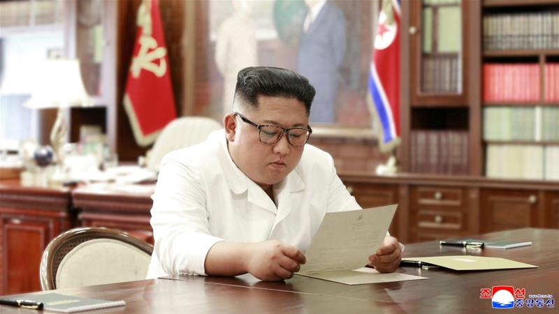 North Korean leader Kim Jong Un received a letter from President Trump