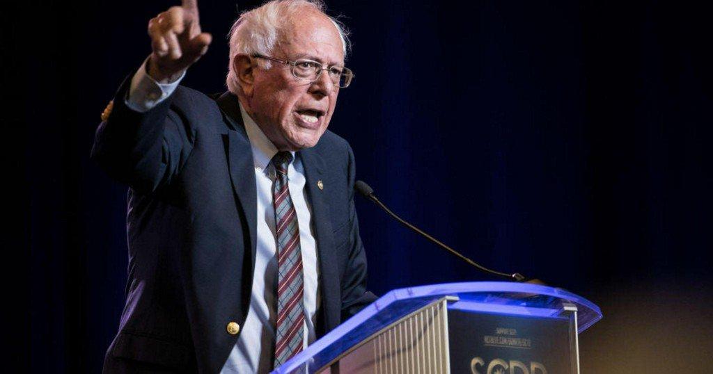 """Bernie Sanders says Trump """"helped create the crisis"""" in Iran"""