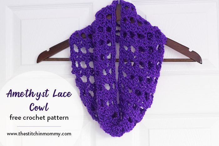 Amethyst Lace Cowl - Free Crochet Pattern #ScarfoftheMonthClub2018 https://t.co/lWJNKb790R https://t.co/4XUxAVVLSx