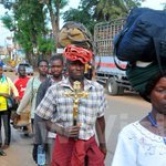 Hoima diocese foot pilgrims progressing on well