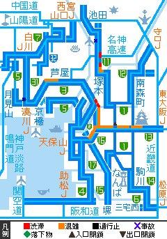 test ツイッターメディア - 18:00 阪神高速の渋滞状況です。 https://t.co/AR666WVxDD