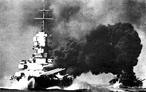 test ツイッターメディア - ヴィットリオ・ヴェネト型戦艦/イタリア/戦艦 ダンケルク型に対抗するために作られた戦艦。 プリエーゼとかいう欠陥装備を積んでたが、攻守速全てにおいて高レベルにまとまってた傑作艦。 ただ代償として航続距離がね・・・(3920海里) https://t.co/qy0phZJ7zF