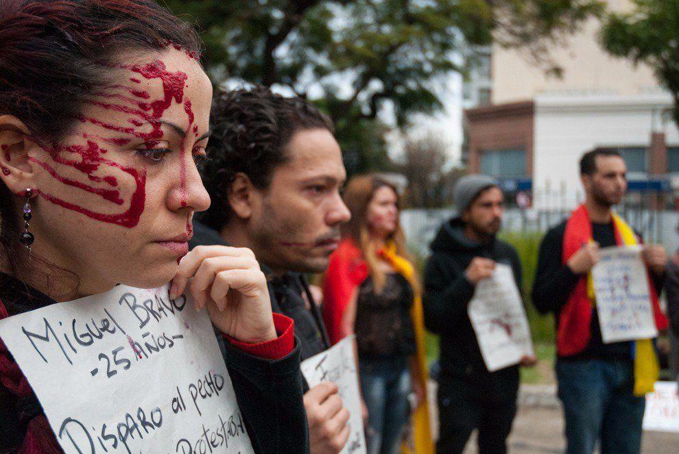 Venezolanos protestan por situación de su país ante la CIDH en Buenos Aires (FOTOS+VIDEO)