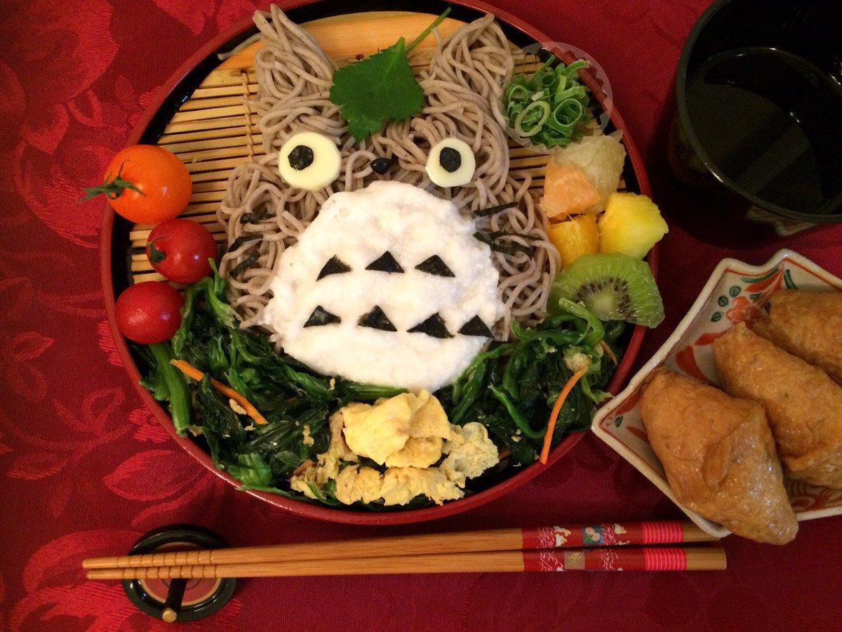 長野県信州の生蕎麦が届いたのでトトロ蕎麦にしてみました💓チン!するご飯やお餅などなど送って貰えると大変助かります💋✨