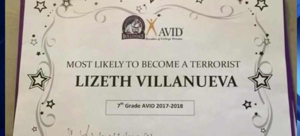 Texas teacher gives student 'most likely to become a terrorist' award