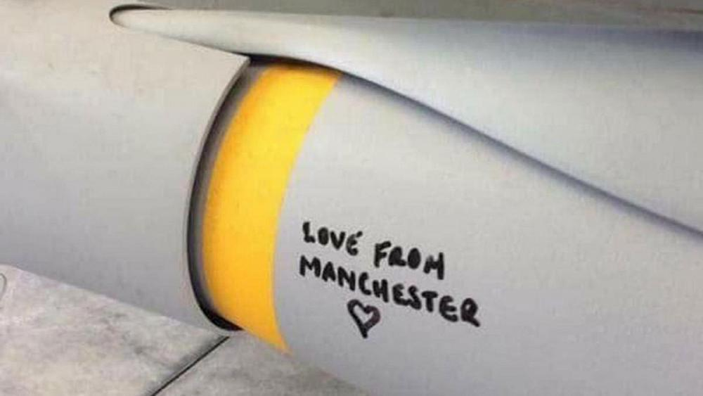 Criticism after British military write 'Love from Manchester' on ISIL-bound missile