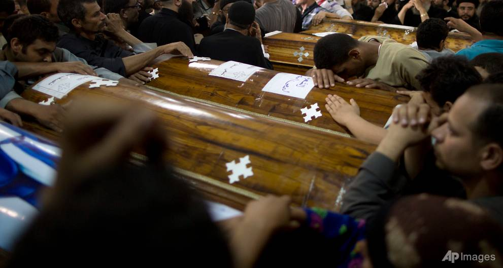 Islamic State group claims responsibility for attack on Coptic Christians