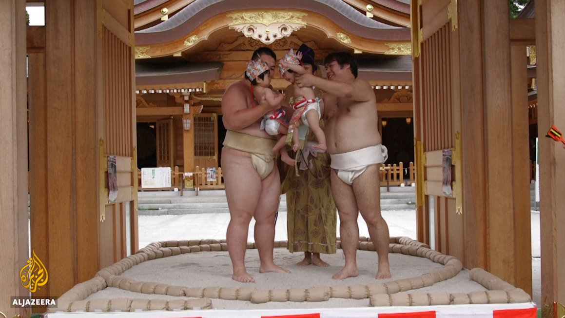 Welcome to Japan's crying sumo baby ceremony, a centuries-old ceremony believed to bring infants good health.