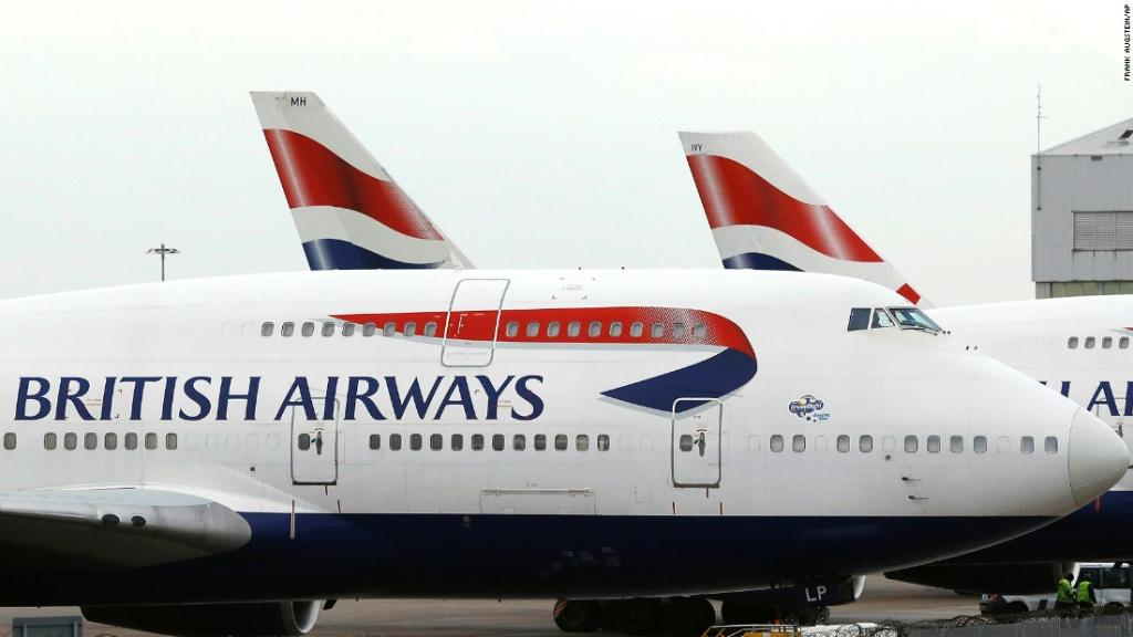 British Airways has canceled all Saturday flights from London's two biggest airports