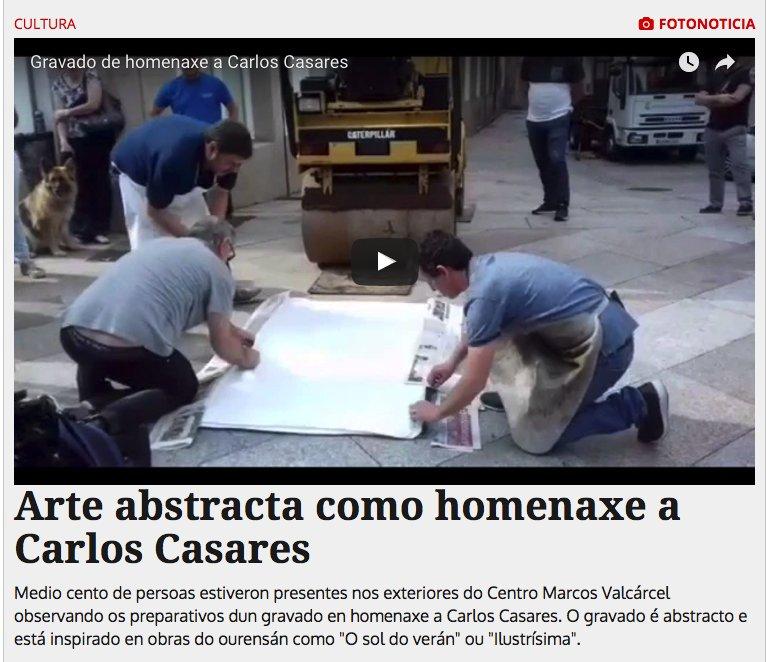 RT @DeputacionOU: Arte abstracta como homenaxe a Carlos Casares https://t.co/i1n4Cn1U76 vía @LaRegion https://t.co/B34EKPCTcc